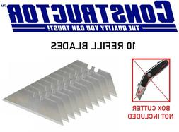 CONSTRUCTOR 10 Replacement Blades Heavy Duty for Utility Kni