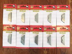 100-Pack Heavy-Duty Utility Box Cutter Knife Replacement Ref