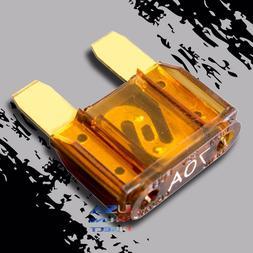 10pcs 70a AMP GOLD Large Blade Audio Maxi Fuse Car Marine Au