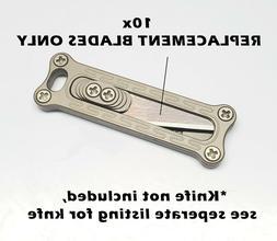 10x REPLACEMENT BLADES for Mini EDC pocket razor blade w/ Ti