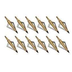 12X Archery Broadheads 100Grain 3 Fixed Blade Hunting Point