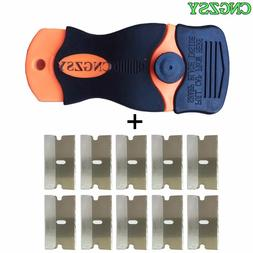 1pc Razor Scraper 10pcs <font><b>Replacement</b></font> Meta