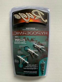 "1pk Rage Slipcam Hypodermic Mechanical 2 Blade 100 Grain 2"""