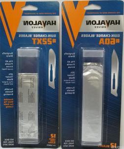24 Havalon Piranta Quik-Change knife Blades 2 X 1 Dozen Pack