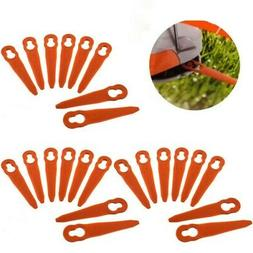 24 Plastic Cutter Blades For Stihl PolyCut 2-2 Lawnmower Tri