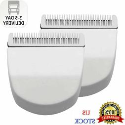 2PCS White Professional Peanut Clipper/Trimmer Snap On Repla