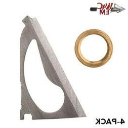 Wac'em 3-Blade Replacement Blades and Rings, 125 Grain