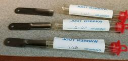 3 WARREN TOOL REPLACEMENT GOUGE BLADES WOOD CARVING SET