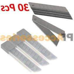 """30x Snap Off 18mm 4"""" Cutter Utility Knife Replacement Blades"""