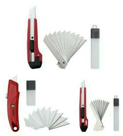 33 pcs Box Cutter Utility Knife Set 3 Different PLUS 30 EXTR