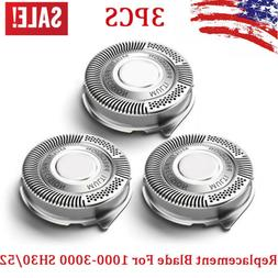 3pcs replacement shaver blades heads for norelco