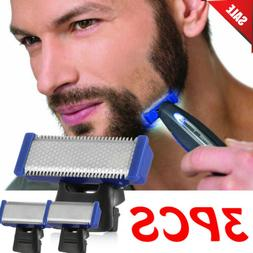 3x double sided replacement shaver blade head