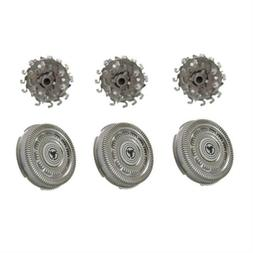 3X Replacement Shaver Blades For PHILIPS RQ12 Sensotouch 3D