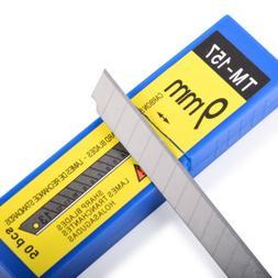 50 PCS Replacement Blades 9mm 60° Carbon Snap Off Razor Cut