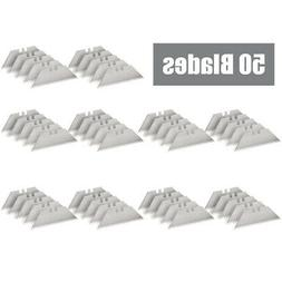 50 replacement utility knife blades sk5 steel