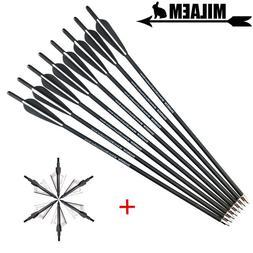 6/12pcs 20inch <font><b>Archery</b></font> Crossbow Bolts Ar
