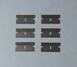 6 pcs Razors Blades Box Cutter Scraper Single Edge Replaceme