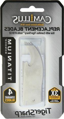 Camillus Tigersharp Replace Blade 4 Pk Straight for 19132