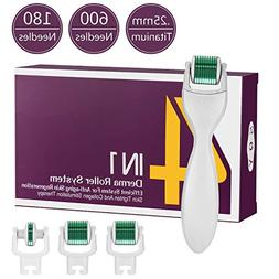Derma Roller Microneedle 5 Piece Kit,3 Face Roller Extra Rep