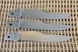 Lot of 3 97OT Schrade USA Folding Knife Making Replacement B