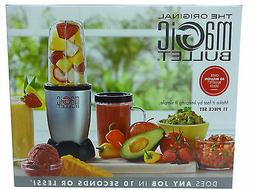 Magic Bullet Blender, Small, Silver, 11 Piece Set