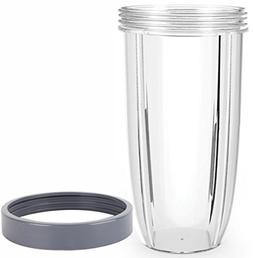 32oz Replacement Cup with Lip Ring for NutriBullet 600W and