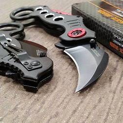 TAC FORCE Spring Assisted Pocket Knives KARAMBIT CLAW BLACK