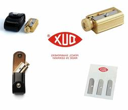 adjustable pencil sharpener 3 replacement blades brass