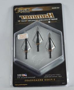 WASP ARCHERY HAMMER FIXED 3 BLADE BROADHEADS,2 SETS REPLACEM
