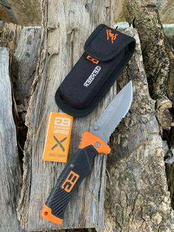 Gerber Bear Grylls Survival Serrated Gray Lockback Folding K