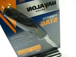 Havalon® Black Stag Folding Knife