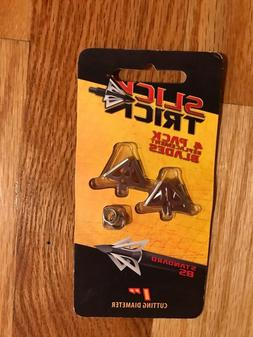 """Slick Trick Standard Blades 85 GR Broadhead , 1"""", Silver"""
