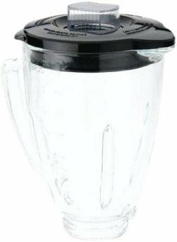 Oster BLSTAJ-CB Blender 6-Cup Glass Jar Black Lid Blender Re