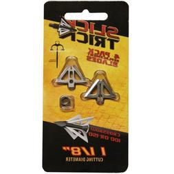 "Slick Trick Broadhead 1-1/8"" Xbow Blades, 100/125 Gr, 4 Pack"