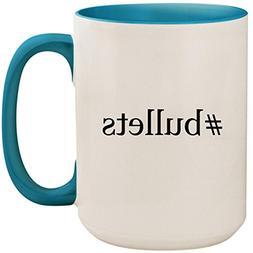#bullets - 15oz Ceramic Colored Inside and Handle Coffee Mug
