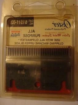 Oster Clipper Replacement Bottom Blade Only Blade Cat 61511-
