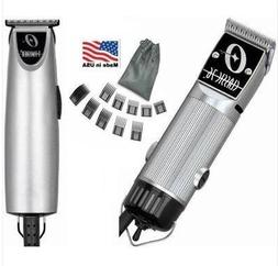 Combo Limited Edition Oster 76 and T Finisher Silver Clipper