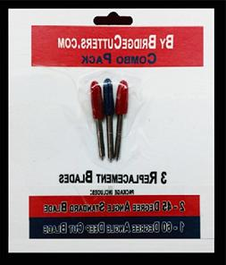 Replacement Combo Pack Includes 3 Blades for Craft Cutting M