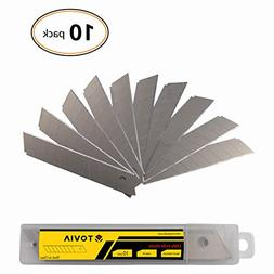 4 Inch Box Cutter Replacement blades-10 Pack by Tovia,18mm A