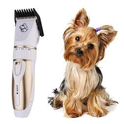 Dog Clippers, SANNYSIS Pet Cat Hair Trimmer Professional Bea