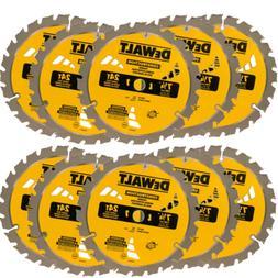"DEWALT DW3578 10pk 7-1/4"" x 24 Tooth Carbide-Tipped Framing"