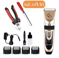 Pet Dog Clippers Trimmer Cordless Low Noise Rechargeable Nai