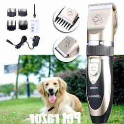 Electric Pet Hair Trimmer Shaver Razor Dog Cat Grooming Quie