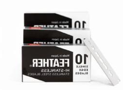 ONEBLADE Feather Single Edge FHS10 Hi-Stainless Razor Blades