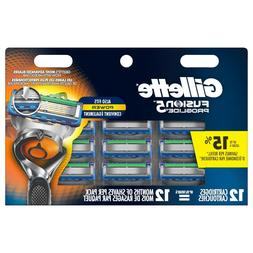 Gillette Fusion 5 Proglide Replacement Razor Blades ~ 12 Pac