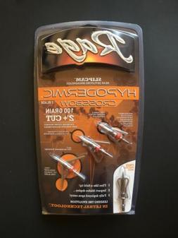 """GENUINE RAGE Hypodermic 100 GR 2"""" + Cut Crossbow Mechanical"""