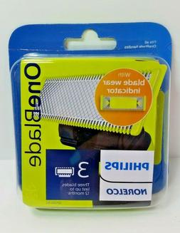 Genuine Philips Norelco OneBlade Replacement Blades 3-Pack S