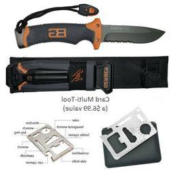 Gerber Bear Grylls Tactical Survival Knife With Sheath & Fir