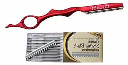 Kissaki Hair Razor Ruby Red Pro Hair Lightweight Feather Raz