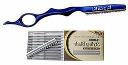 Kissaki Hair Razor Sapphire Blue Pro Hair Lightweight Feathe